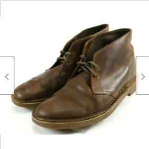 Clarks Men's Desert Boots Size 12 Leather Brown